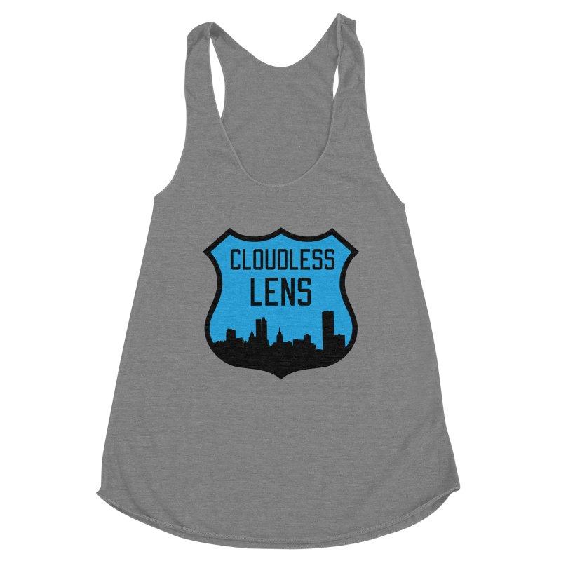 Cloudless Lens Logo Women's Racerback Triblend Tank by Cloudless Lens