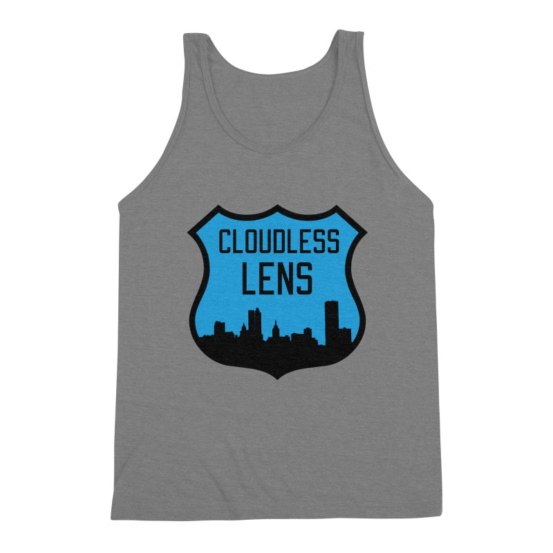 Cloudless Lens Logo Men's Triblend Tank by Cloudless Lens
