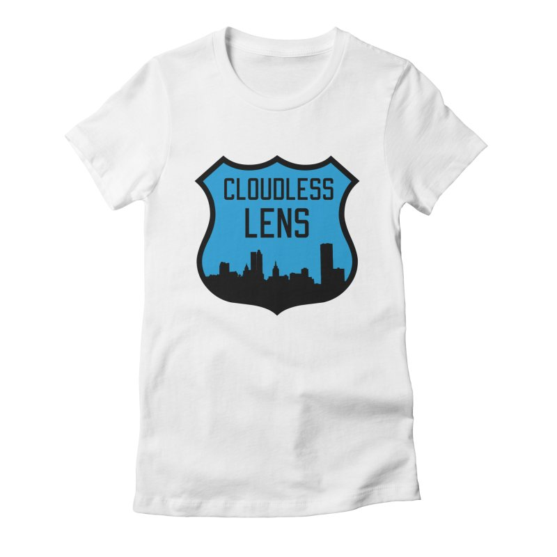 Cloudless Lens Logo Women's Fitted T-Shirt by Cloudless Lens