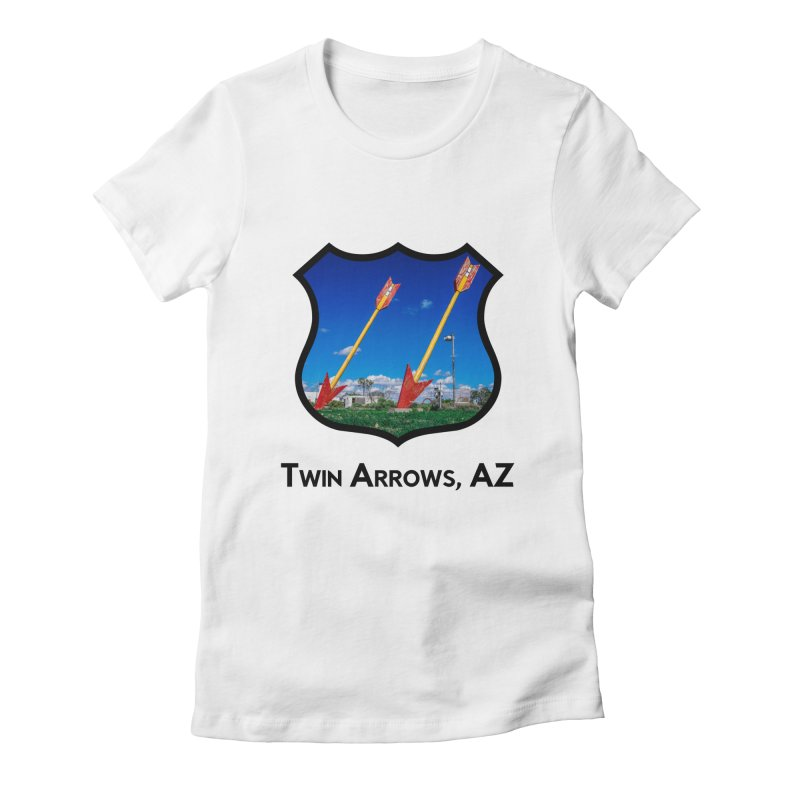 Twin Arrows Women's Fitted T-Shirt by Cloudless Lens