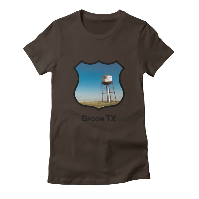 Britten Tower Women's Fitted T-Shirt by Cloudless Lens