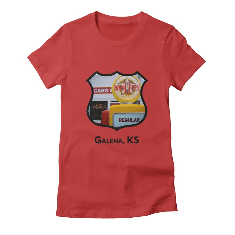 Cars on the Route Women's Fitted T-Shirt by Cloudless Lens