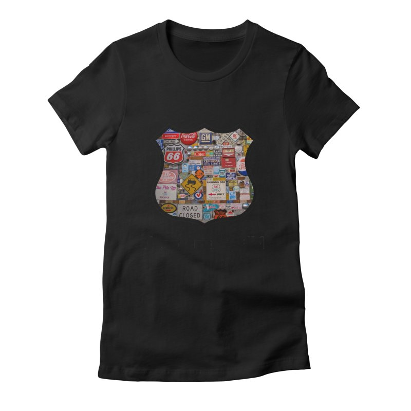 Signs in ABQ Women's Fitted T-Shirt by Cloudless Lens