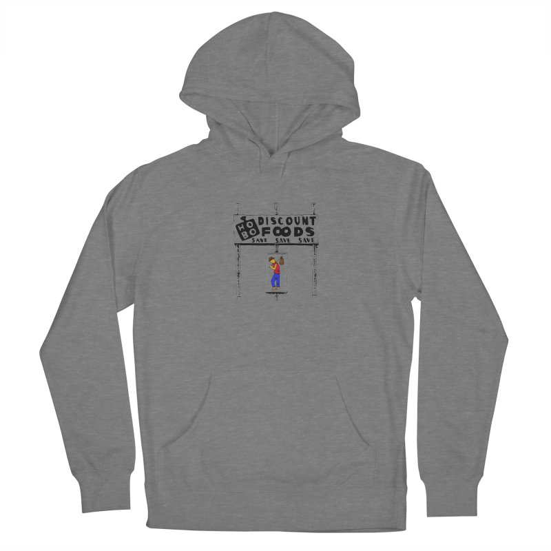 Hobo Discount Foods Men's French Terry Pullover Hoody by Cloudless Lens
