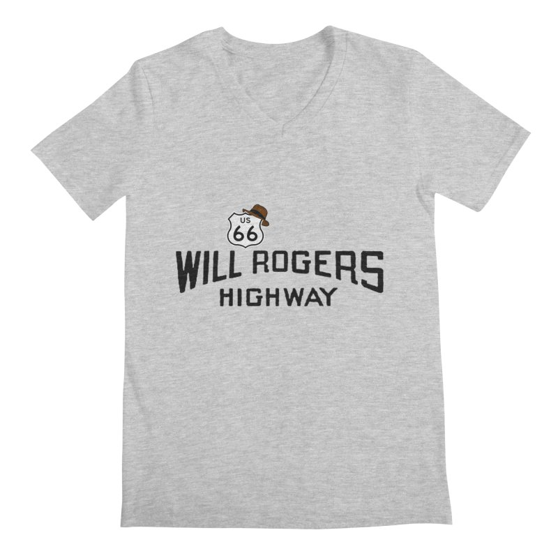 Will Rogers Highway Men's V-Neck by Cloudless Lens