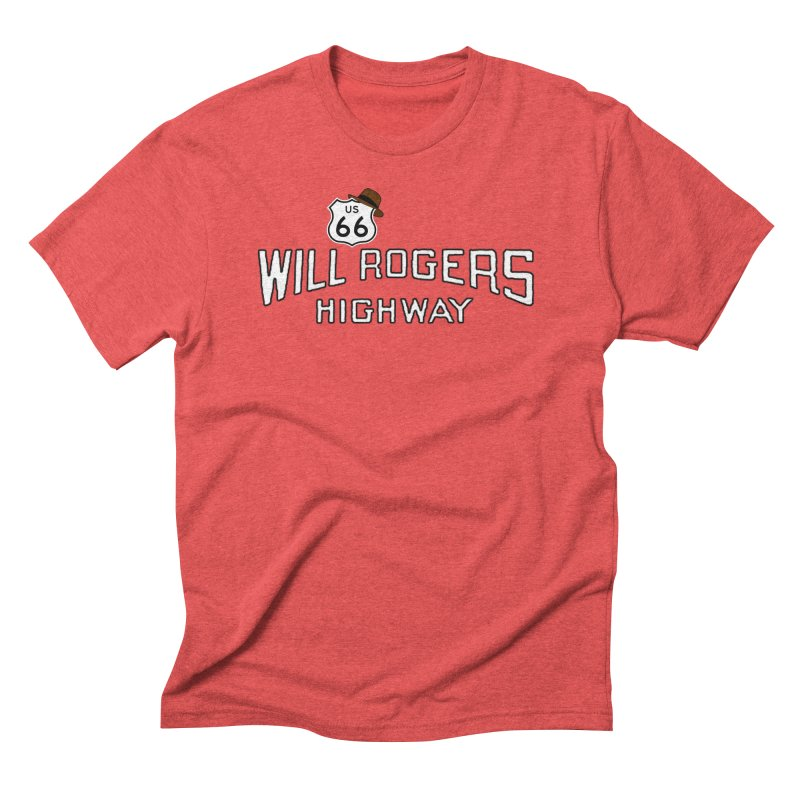 Will Rogers Highway 2 Men's Triblend T-Shirt by Cloudless Lens