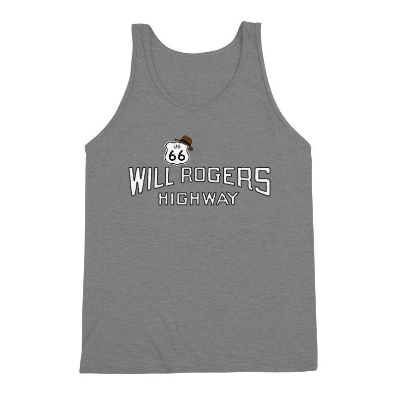 Will Rogers Highway 2 Men's Triblend Tank by Cloudless Lens