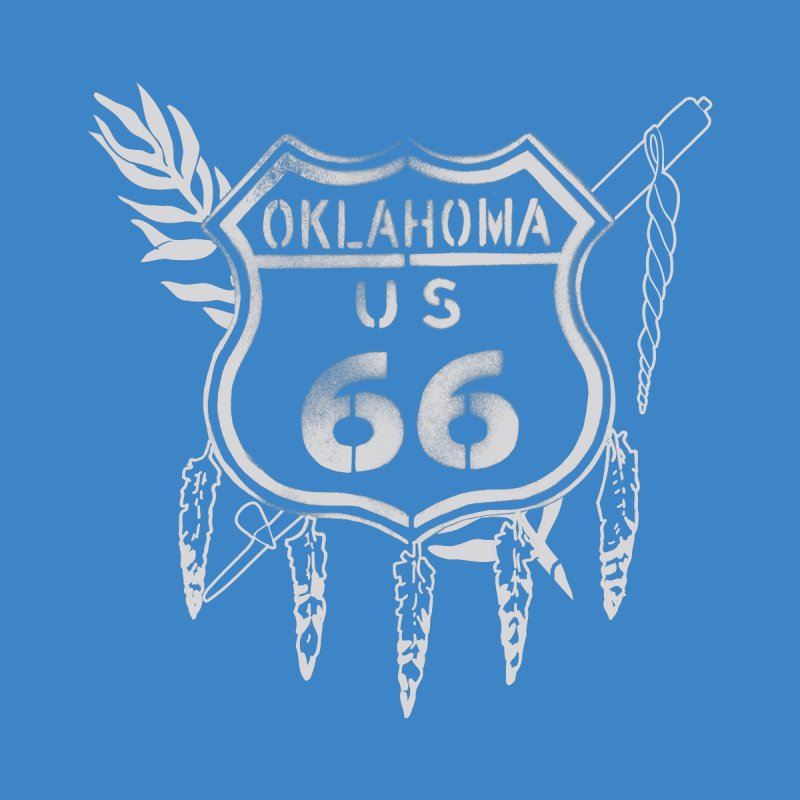 Oklahoma Route 66 Shield Men's T-Shirt by Cloudless Lens