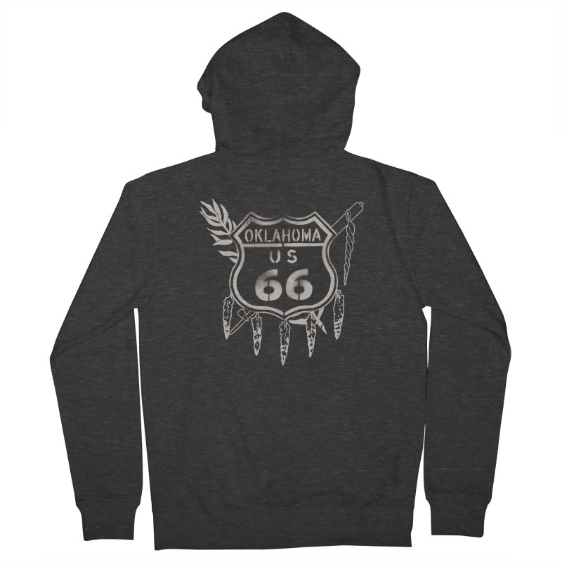 Oklahoma Route 66 Shield Men's French Terry Zip-Up Hoody by Cloudless Lens