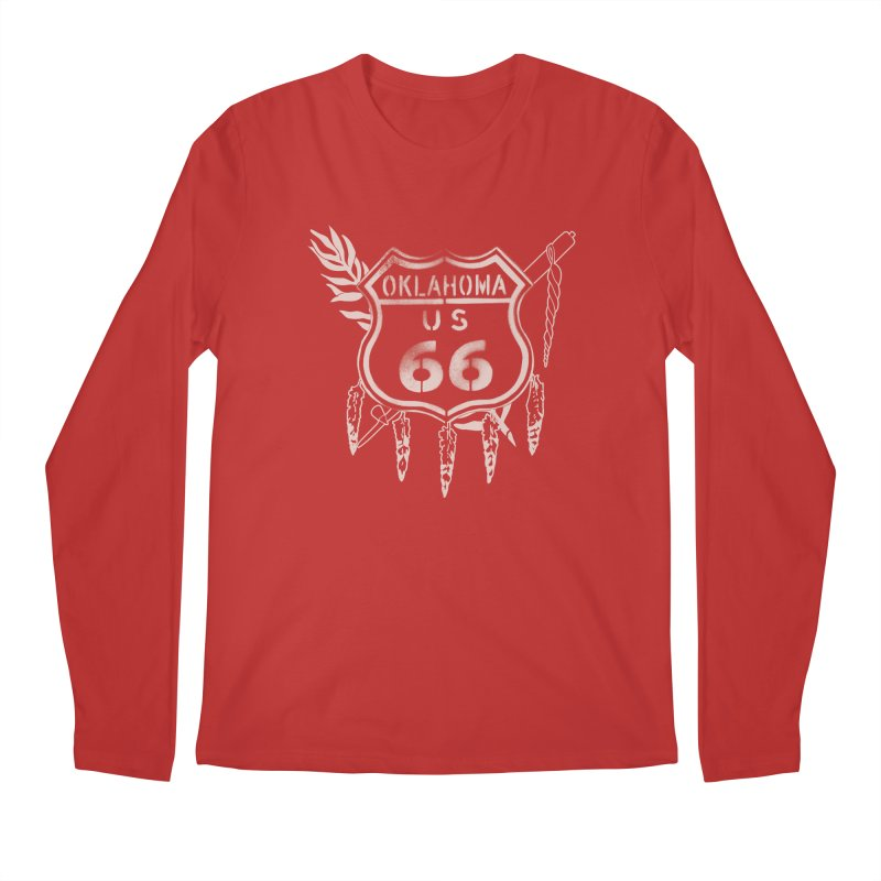 Oklahoma Route 66 Shield Men's Regular Longsleeve T-Shirt by Cloudless Lens