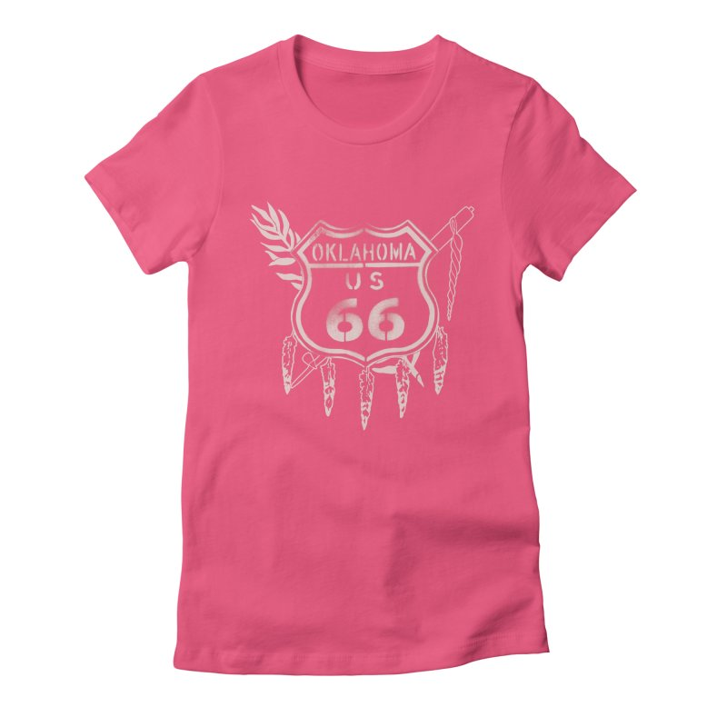 Oklahoma Route 66 Shield Women's Fitted T-Shirt by Cloudless Lens