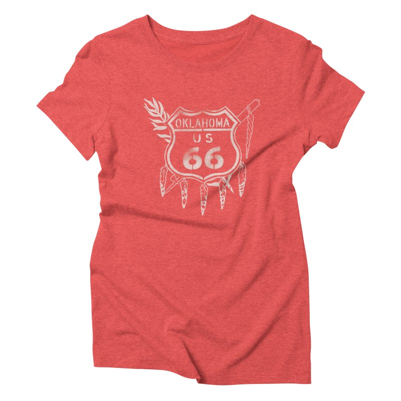 Oklahoma Route 66 Shield Women's T-Shirt by Cloudless Lens