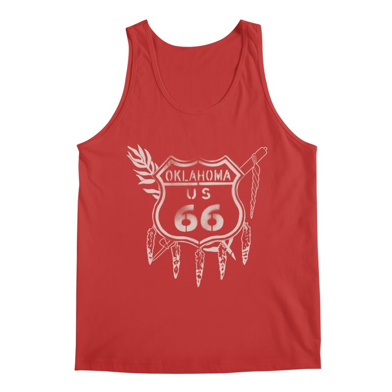 Oklahoma Route 66 Shield Men's Regular Tank by Cloudless Lens