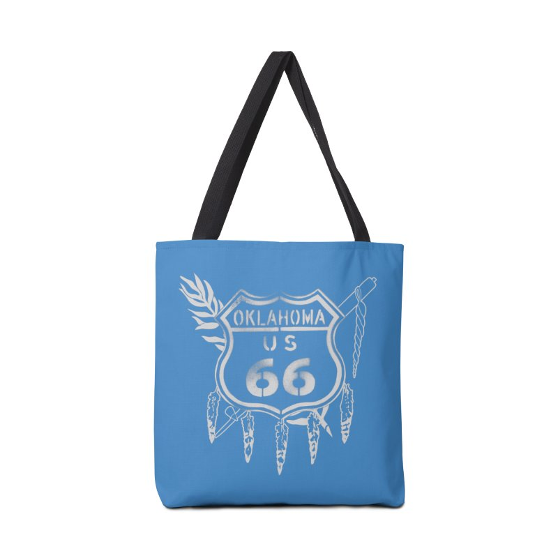 Oklahoma Route 66 Shield Accessories Tote Bag Bag by Cloudless Lens
