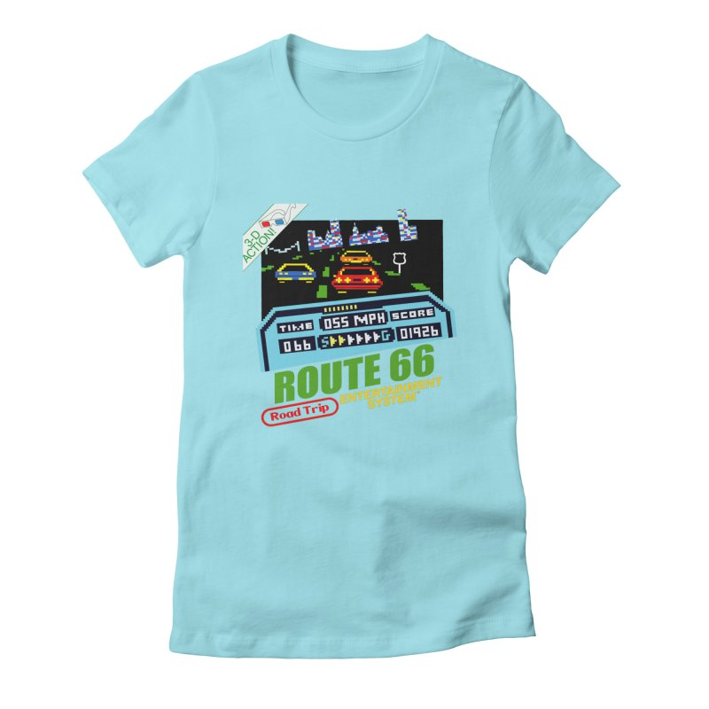 Route Racer Women's Fitted T-Shirt by Cloudless Lens