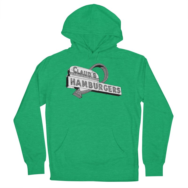 Claud's Hamburgers Women's French Terry Pullover Hoody by Cloudless Lens