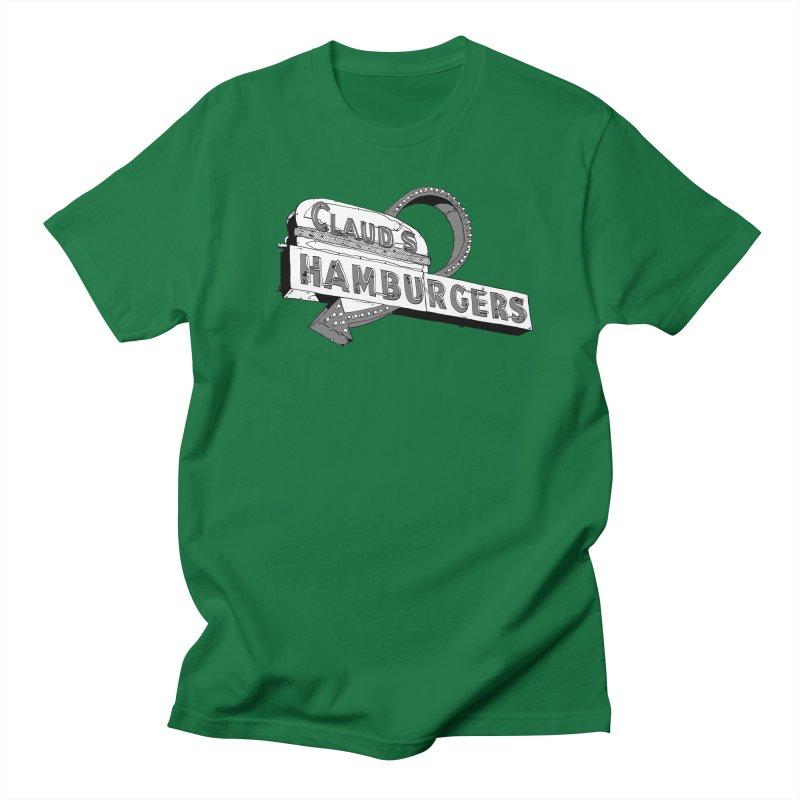 Claud's Hamburgers Men's Regular T-Shirt by Cloudless Lens