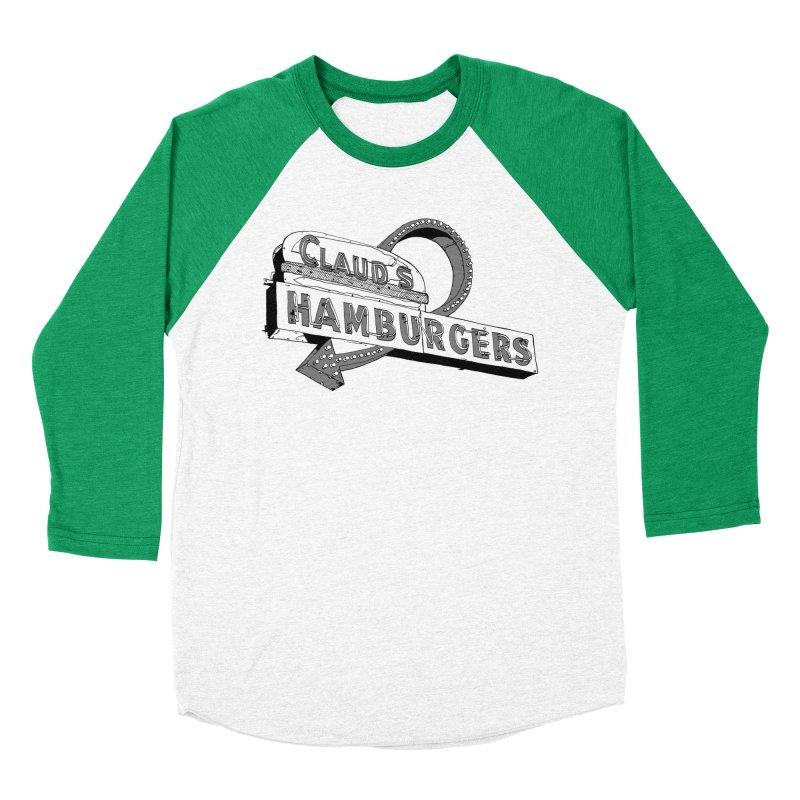 Claud's Hamburgers Men's Baseball Triblend Longsleeve T-Shirt by Cloudless Lens