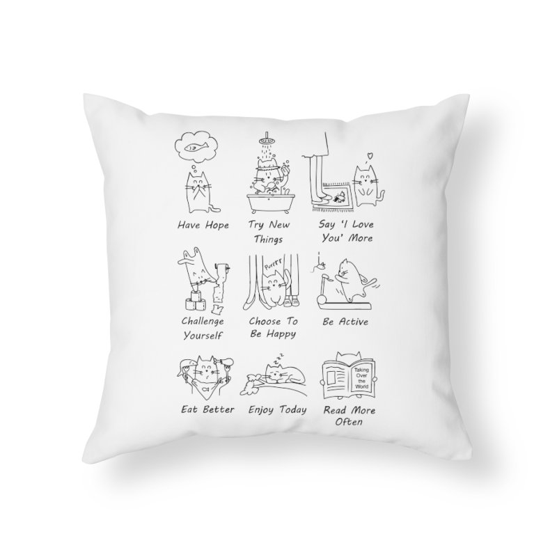 New Year's Resolutions Home Throw Pillow by clsantos82's Artist Shop