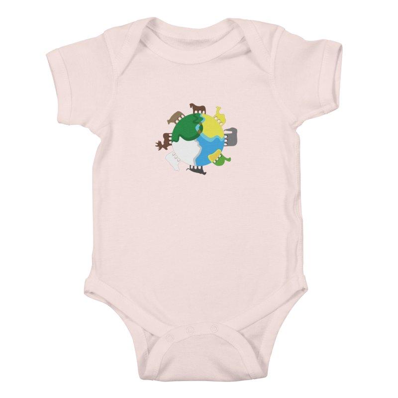 Quadruplanetism Kids Baby Bodysuit by cmaifre's Artist Shop