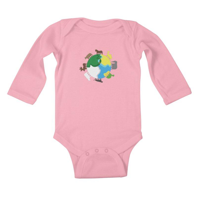 Quadruplanetism Kids Baby Longsleeve Bodysuit by cmaifre's Artist Shop