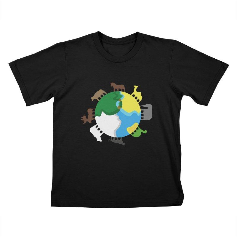 Quadruplanetism Kids T-shirt by cmaifre's Artist Shop