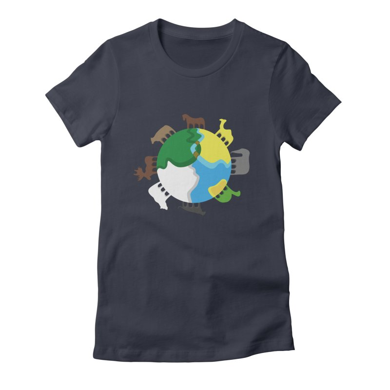 Quadruplanetism Women's Fitted T-Shirt by cmaifre's Artist Shop