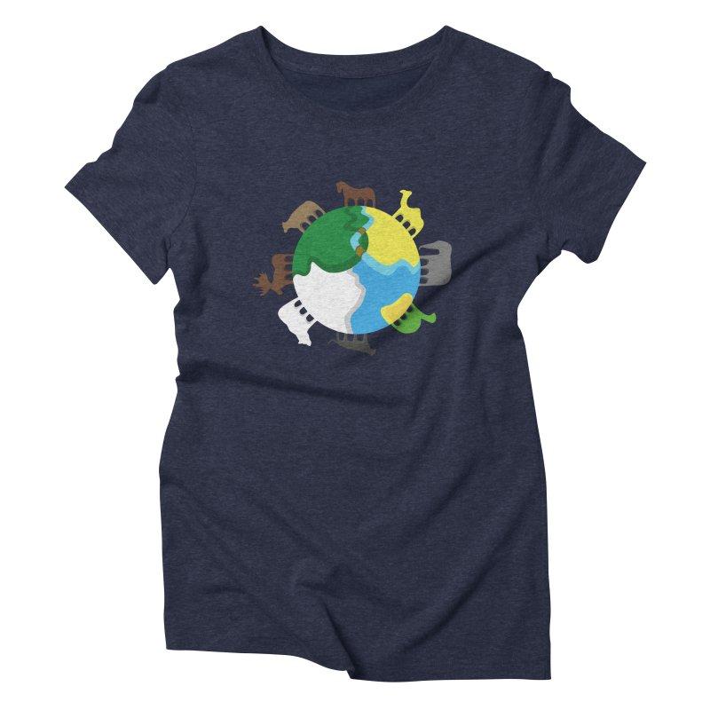 Quadruplanetism Women's Triblend T-shirt by cmaifre's Artist Shop