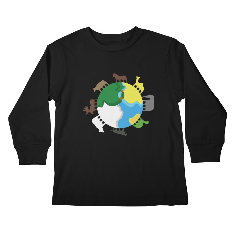 Quadruplanetism Kids Longsleeve T-Shirt by cmaifre's Artist Shop