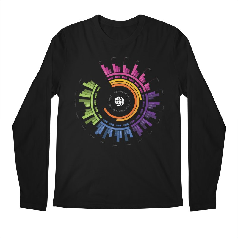 World's Cuisines Men's Longsleeve T-Shirt by cmaifre's Artist Shop