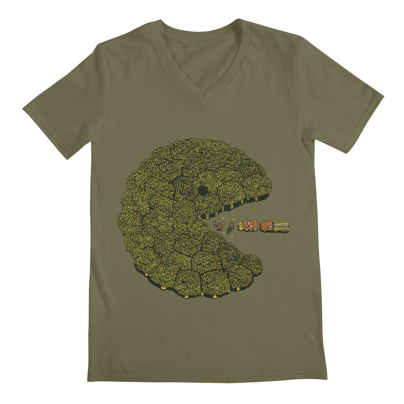 PACFOREST Men's V-Neck by cmatos's Artist Shop
