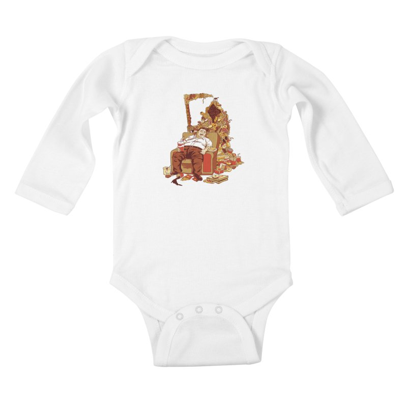 THE DEADLY DIET Kids Baby Longsleeve Bodysuit by cmatos's Artist Shop