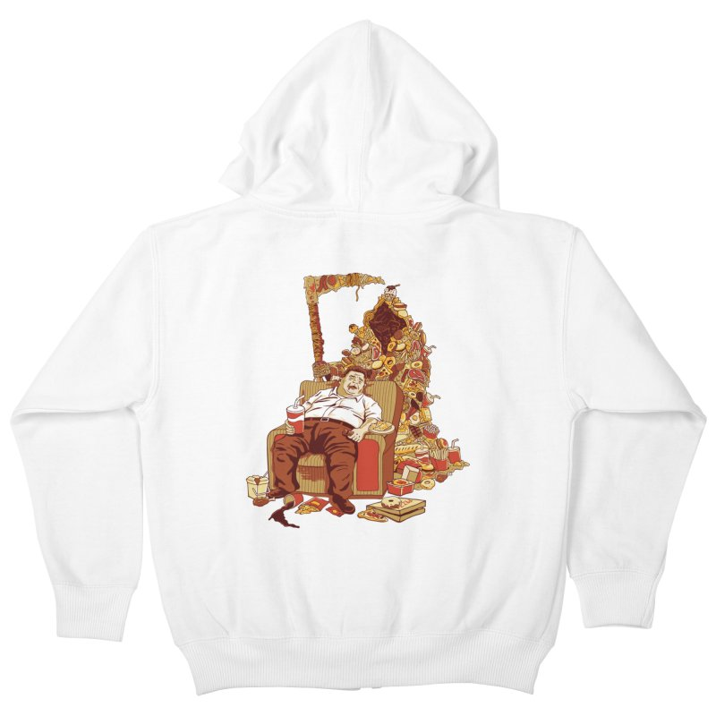 THE DEADLY DIET Kids Zip-Up Hoody by cmatos's Artist Shop