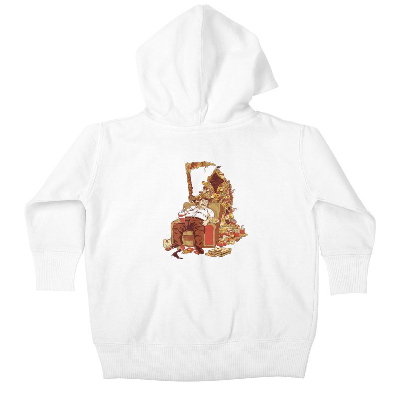 THE DEADLY DIET Kids Baby Zip-Up Hoody by cmatos's Artist Shop