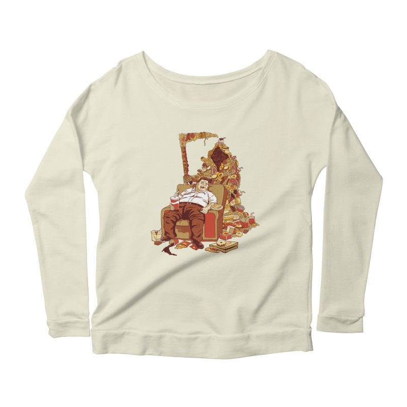 THE DEADLY DIET Women's Longsleeve Scoopneck  by cmatos's Artist Shop