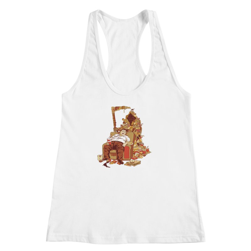 THE DEADLY DIET Women's Racerback Tank by cmatos's Artist Shop