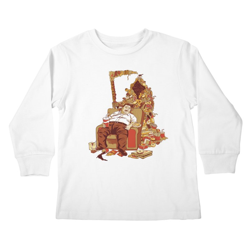 THE DEADLY DIET Kids Longsleeve T-Shirt by cmatos's Artist Shop