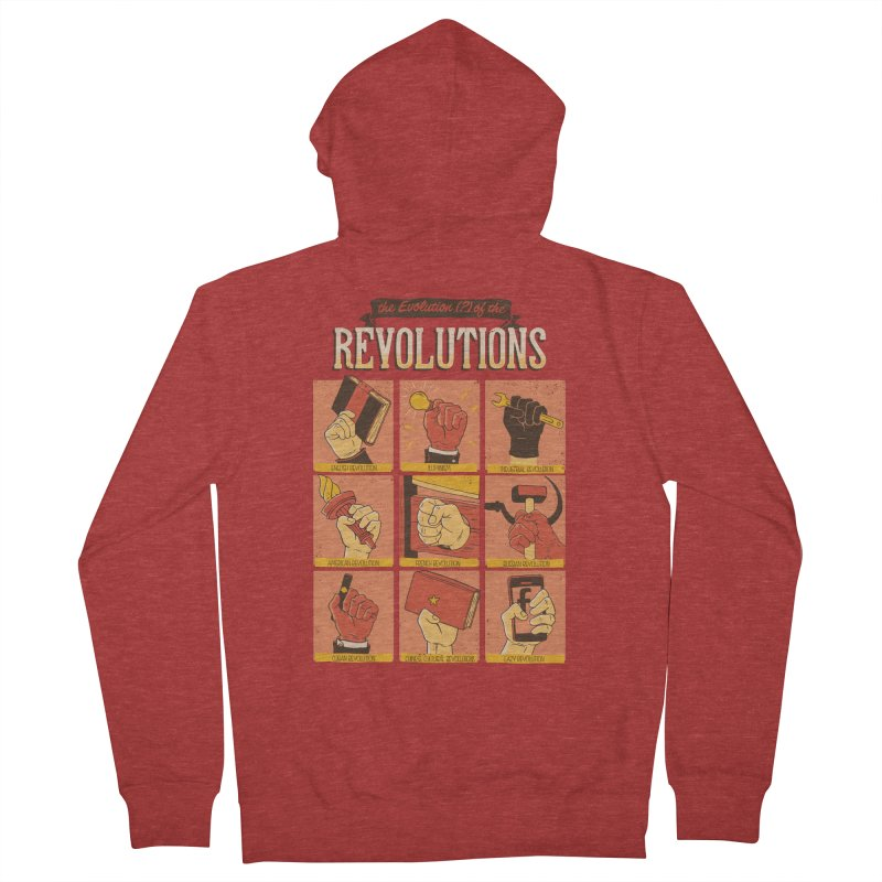 The Evolution of the Revolutions Men's Zip-Up Hoody by cmatos's Artist Shop