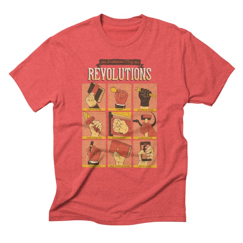 The Evolution of the Revolutions Men's Triblend T-Shirt by cmatos's Artist Shop
