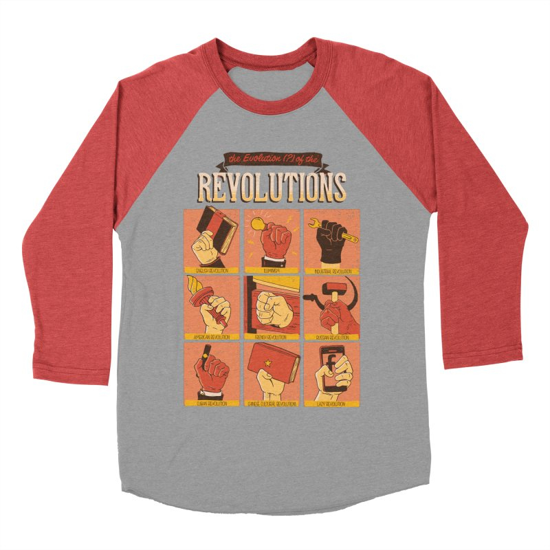 The Evolution of the Revolutions Men's Baseball Triblend T-Shirt by cmatos's Artist Shop
