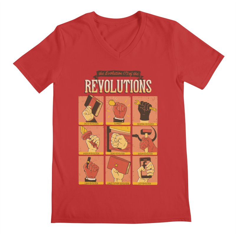 The Evolution of the Revolutions Men's V-Neck by cmatos's Artist Shop