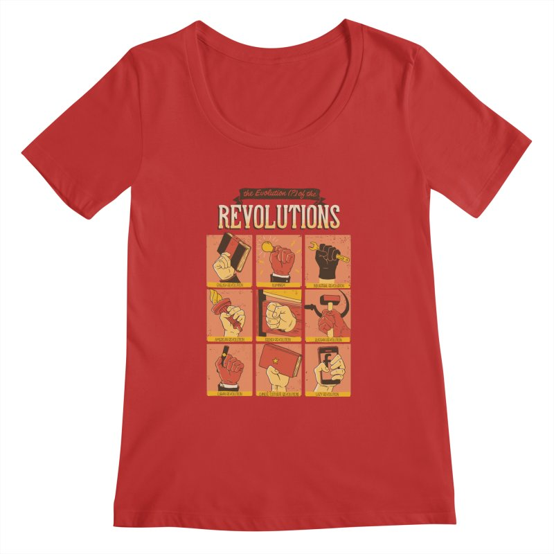 The Evolution of the Revolutions Women's Scoopneck by cmatos's Artist Shop
