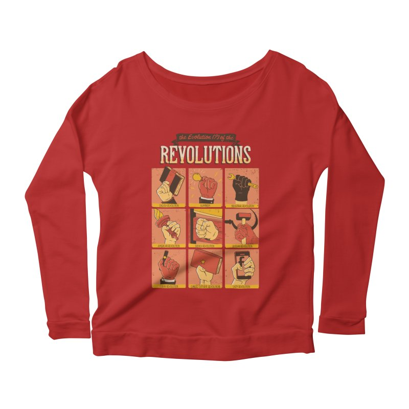 The Evolution of the Revolutions Women's Longsleeve Scoopneck  by cmatos's Artist Shop