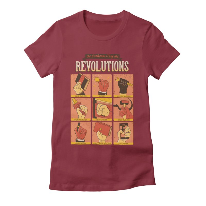 The Evolution of the Revolutions Women's Fitted T-Shirt by cmatos's Artist Shop