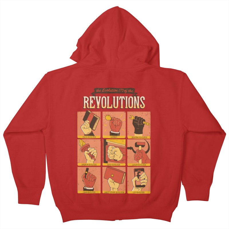 The Evolution of the Revolutions Kids Zip-Up Hoody by cmatos's Artist Shop