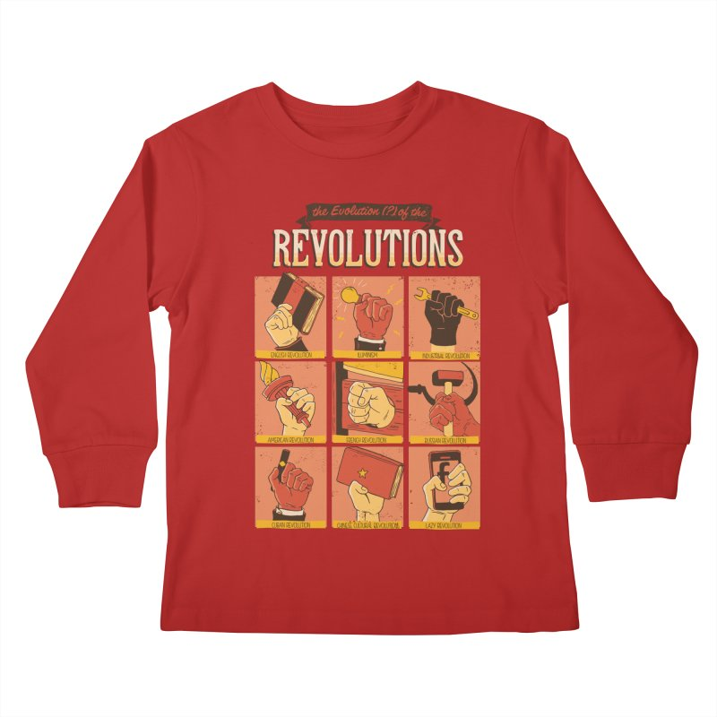 The Evolution of the Revolutions Kids Longsleeve T-Shirt by cmatos's Artist Shop