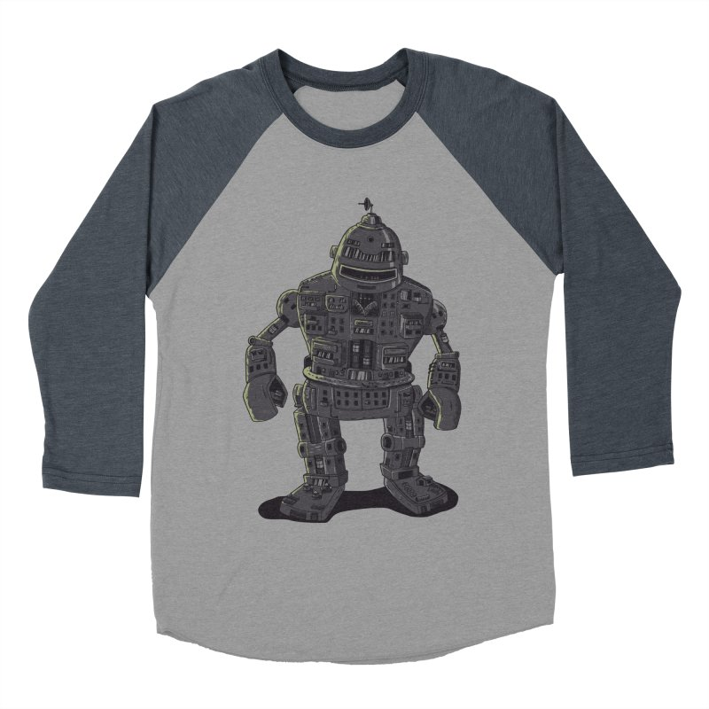 ROBOT CITY Men's Baseball Triblend T-Shirt by cmatos's Artist Shop