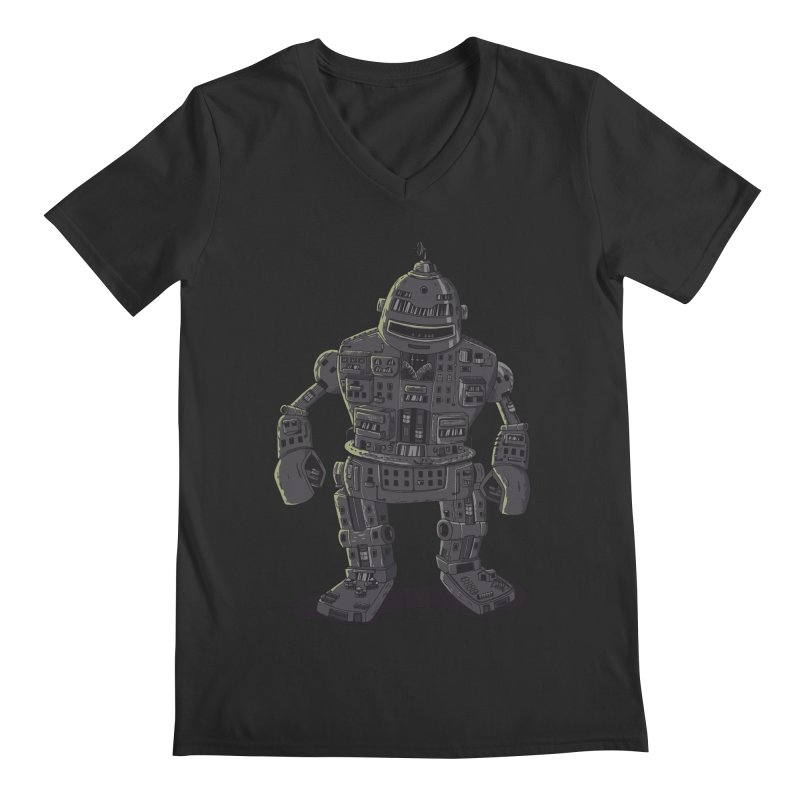 ROBOT CITY Men's V-Neck by cmatos's Artist Shop