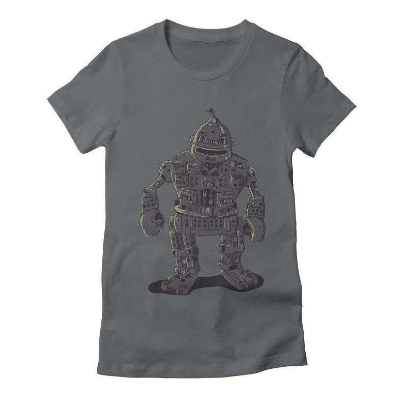 ROBOT CITY Women's Fitted T-Shirt by cmatos's Artist Shop