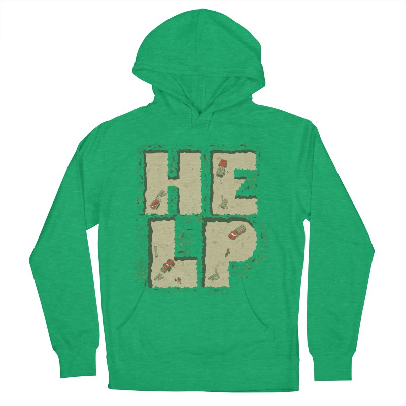 HELP Men's Pullover Hoody by cmatos's Artist Shop